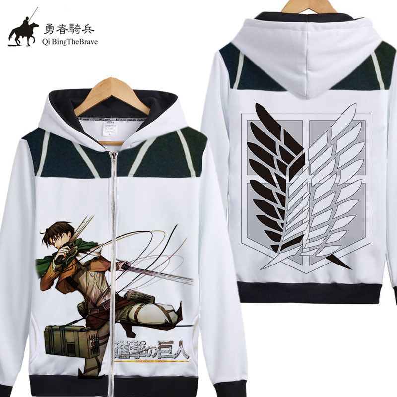 Japan Anime Attack on Titan Cosplay hoodie Shingeki no Kyojin Hooded Sweatshirt Jaqueta Maculina Autumn Fleece zipper Coat 07130