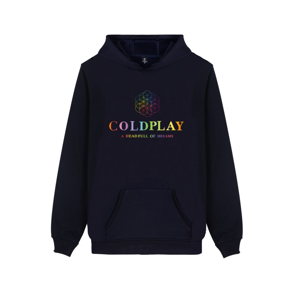 Coldplay Hooded Sweatshirt Men Popular Rock Band Casual Warm Winter Hoodies Mens Fashion Hip Hop Streetwear Coldplay Clothes