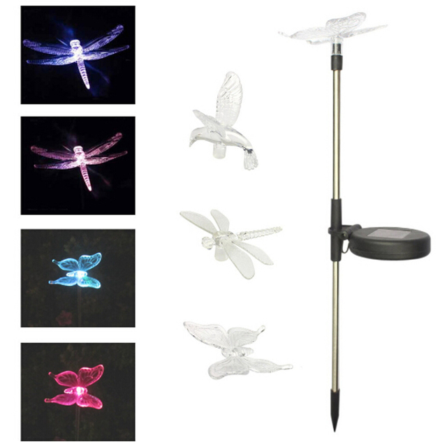 3pcslot dragonflybutterflybird led solar lamps lawn lights 3pcslot dragonflybutterflybird led solar lamps lawn lights outdoor lighting garden mozeypictures Choice Image