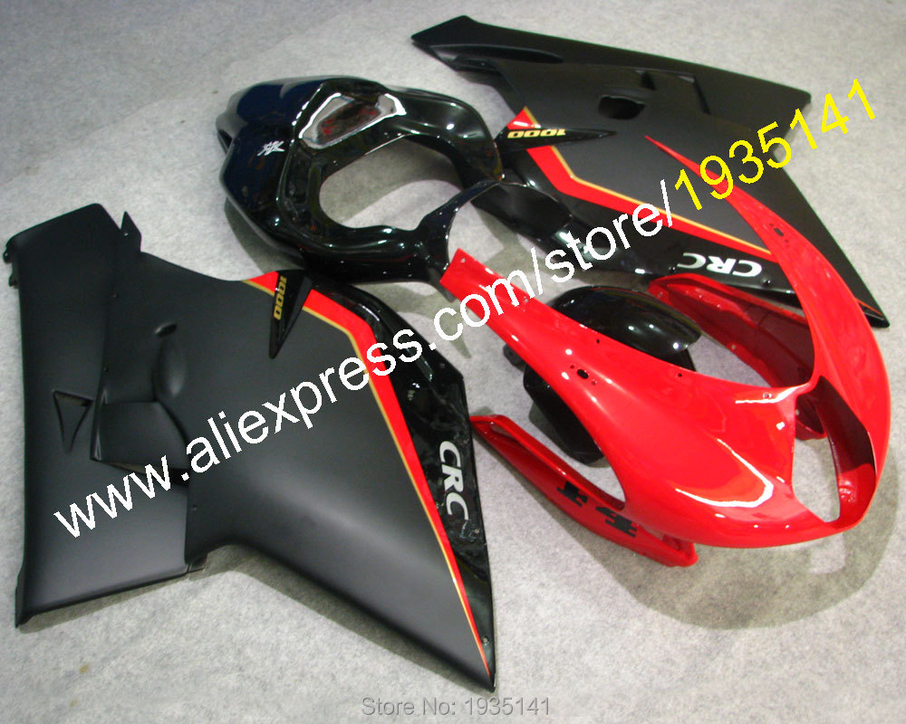 Hot Sales,For MV Agusta ABS Plastic Fairings 1+1 F4 1000 body kit 2005 2006 MV Agusta F4 1000 05 06 Red balck Motorcycle Cowling картридж hp 55a черный [ce255a]