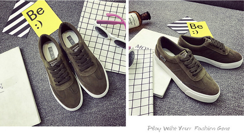 Free Shipping Spring and Autumn Men Canvas Shoes High Quality Fashion Casual Shoes Low Top Brand Single Shoes Thick Sole 7583 -  -  (4) -