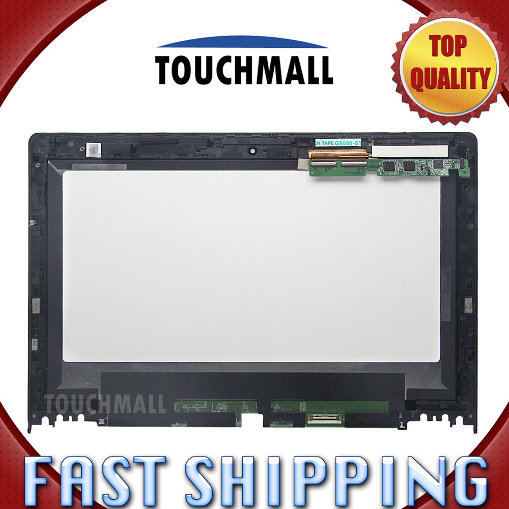 For New LCD Display Touch Screen with Frame Assembly Replacement Lenovo Yoga 11S B116XAT02.0 1366x768 11.6 Black Free Shipping lcd screen assembly for apple iphone 4 4g lcd display touch screen digitizer pantalla with frame bezel replacement black white