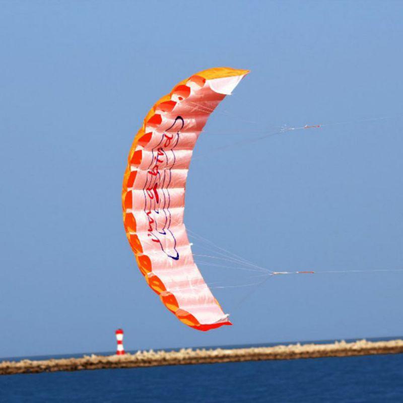 Adult Parachute Dual Line Stunt Kite Parapente Parafoil Nylon Sport Kite Travel Paragliding Kitesurf Sport Toy