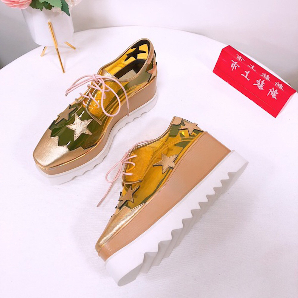 Women s Shoes New Fashion PVC And Genuine Leather High Heel Shoes Hot Sell Casual Ladies