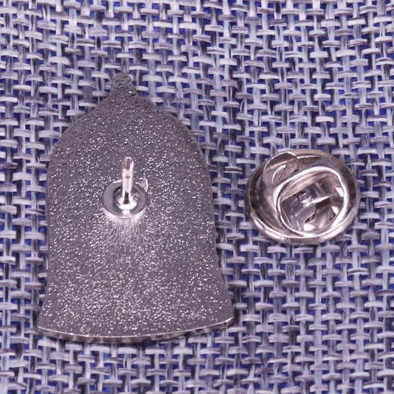Kaca Rose Lencana Biru Glitter Pin Kecewa Mawar Bunga Bros Seni Nyata Perhiasan Kejutan Hadiah Valentine