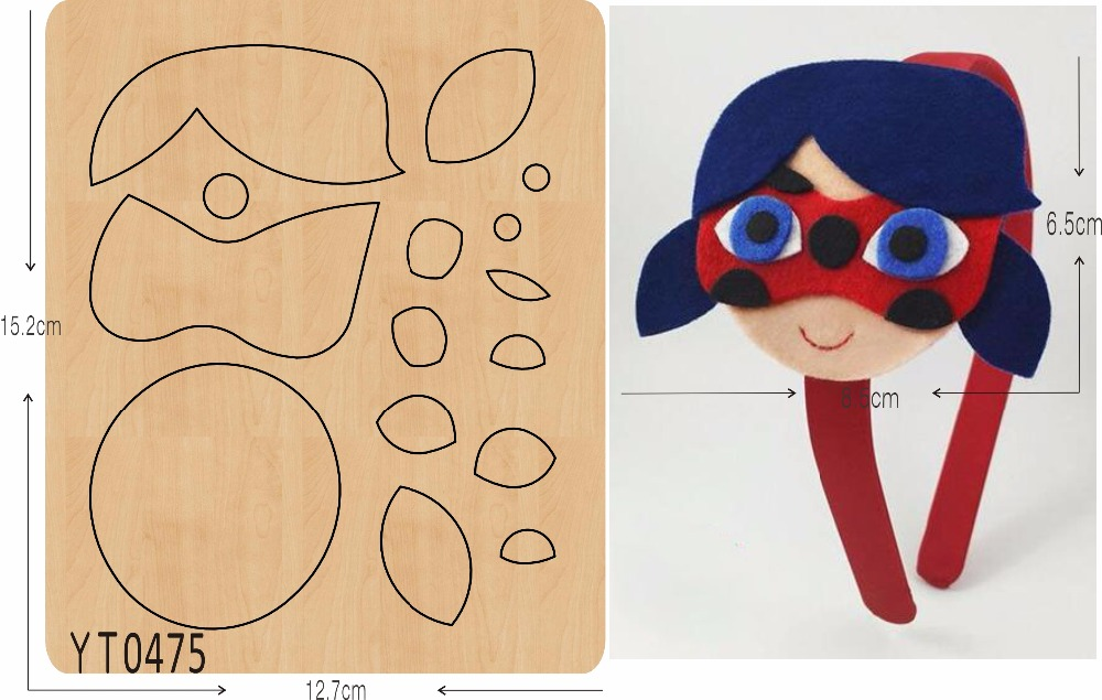 Mask Girl DIY new wooden mould cutting dies for scrapbooking Thickness 15 8mm YT0475