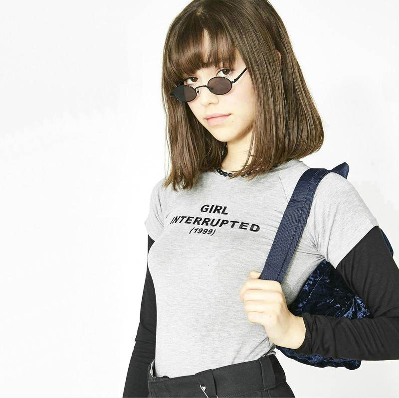 NiceMix 2019 Long Sleeve Female T shirt 2019 New Spring Autumn Letter Printed Harajuku T Shirt Women Patchwork Fitness Basic tsh in T Shirts from Women 39 s Clothing