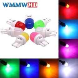 4 pièces haute qualité T10 céramique 2825 WY5W W5W 2SMD 3030 LED Wedge marqueur lampe voiture lecture dôme ampoule Auto Parking lumière Source 12 V