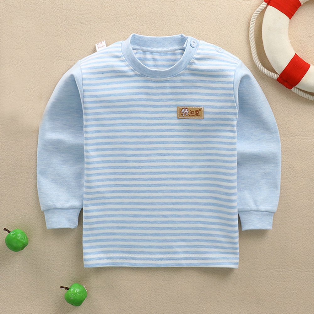 Long Sleeve Tops Girls Long Sleeve T-Shirts Baby Boys Girls Striped Clothes Kids Cotton Clothing Children Cotton T-Shirts A101 boys t shirts birthday age number print kids girls tee tops 100% cotton baby clothing boys t shirts summer clothes wua7430010