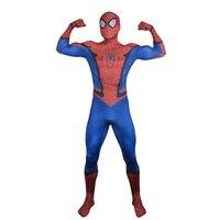 Erkek Örümcek-Adam Kostüm Deluxe Yeni Örümcek Adam Cosplay Kostüm Yetişkin Zentai Suit Marvel Süper Kahraman Fantezi Elbise Cadılar Bayramı kostümleri