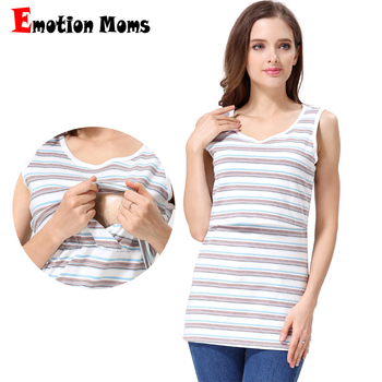 Emotion Moms Summer Tank Tops Maternity Clothes Vest Tops breastfeeding Clothing for Pregnant Women Maternity Tops tops