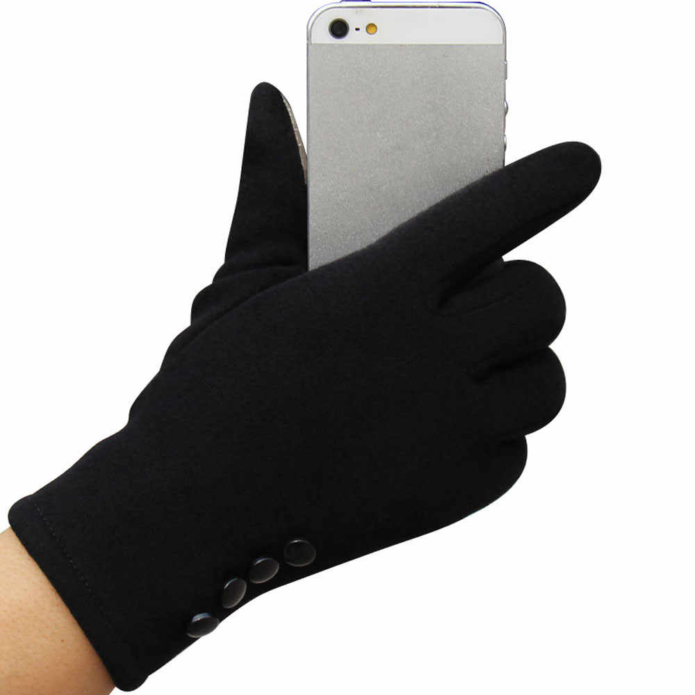 2019 moda kadın kış eldiven kadın bayanlar kızlar pamuklu eldiven açık sıcak tam parmak eldiven # YW