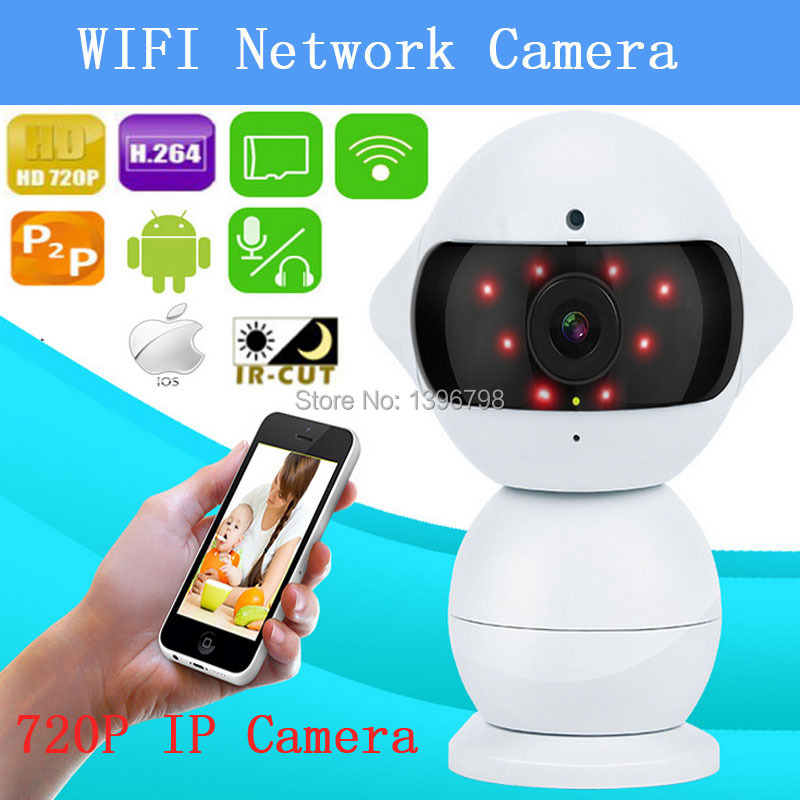 PU`Aimetis 720P IP Camera HD night vision surveillance camera phones WiFi network intelligent remote wireless camera