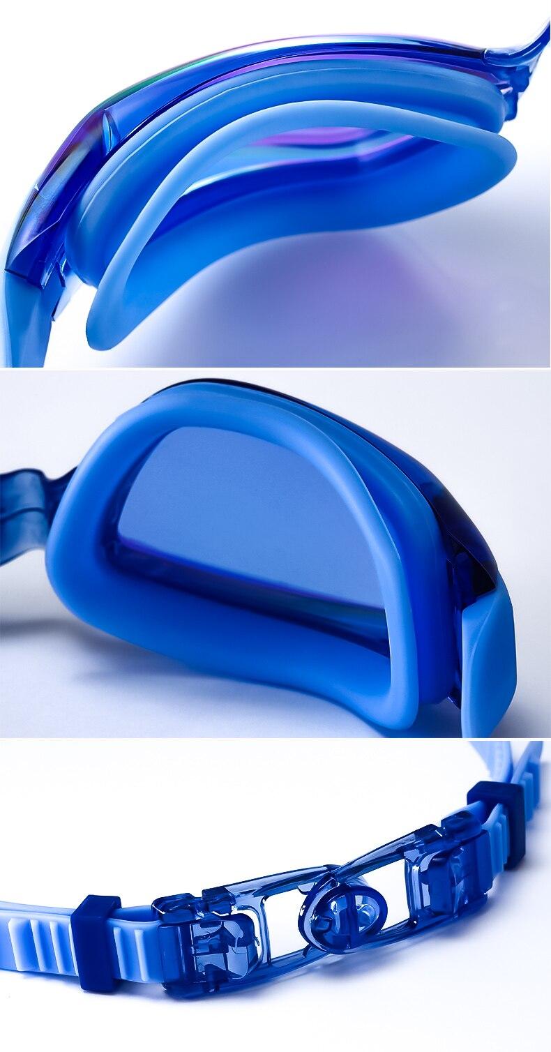 XARKE Optical Diopter Anti Fog Silicone Prescription Swimming Goggles For Pool Myopia 9