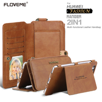 FLOVEME Huawei P9 Case Retro Huawei P10 Leather Phone Cases Huawei P9 Ascend P10 Plus Metal