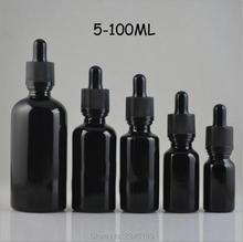 5 ML 10 ML 15 ML 20 ML 30 ML 50 ML 100 ML bricolage verre noir bouteille dhuile essentielle vide, bouteille de compte gouttes liquide vide en verre de haute qualité
