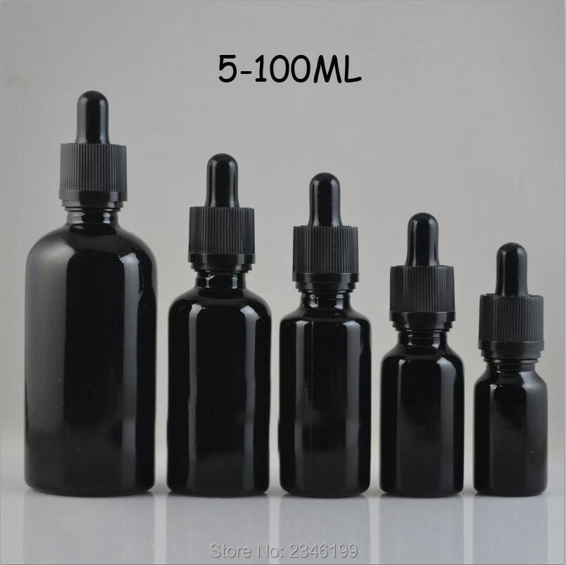 цены 5ML 10ML 15ML 20ML 30ML 50ML 100ML DIY Black Glass Empty Essential Oil Bottle, High Grade Glass Empty Liquid Dropper Bottle