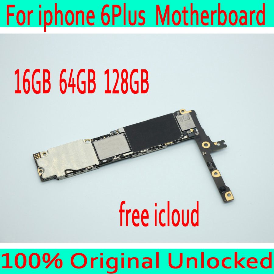 16GB / 64GB /128GB for iphone 6 Plus Motherboard with Free iCloud,Original unlocked for iphone 6 Plus Mainboard without Touch ID
