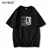 HIYSIZ 2019 Streetwear Harajuku t shirt Men Summer Hip Hop tshirt  Short Sleeve Casual Cotton tshirt Ship Cartoon T-shirts ST522 цена