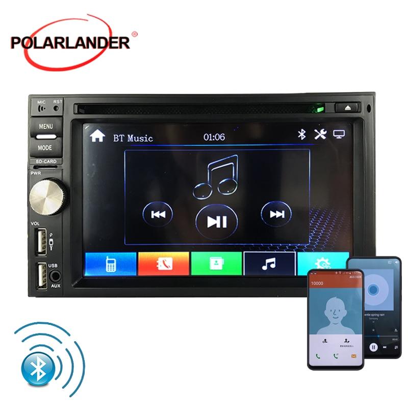 1080 P format vidéo 6.5 pouces commandes au volant 7 couleurs rétro-éclairage vidéo fonction d'avertissement MP3 grand écran FM horloge HD