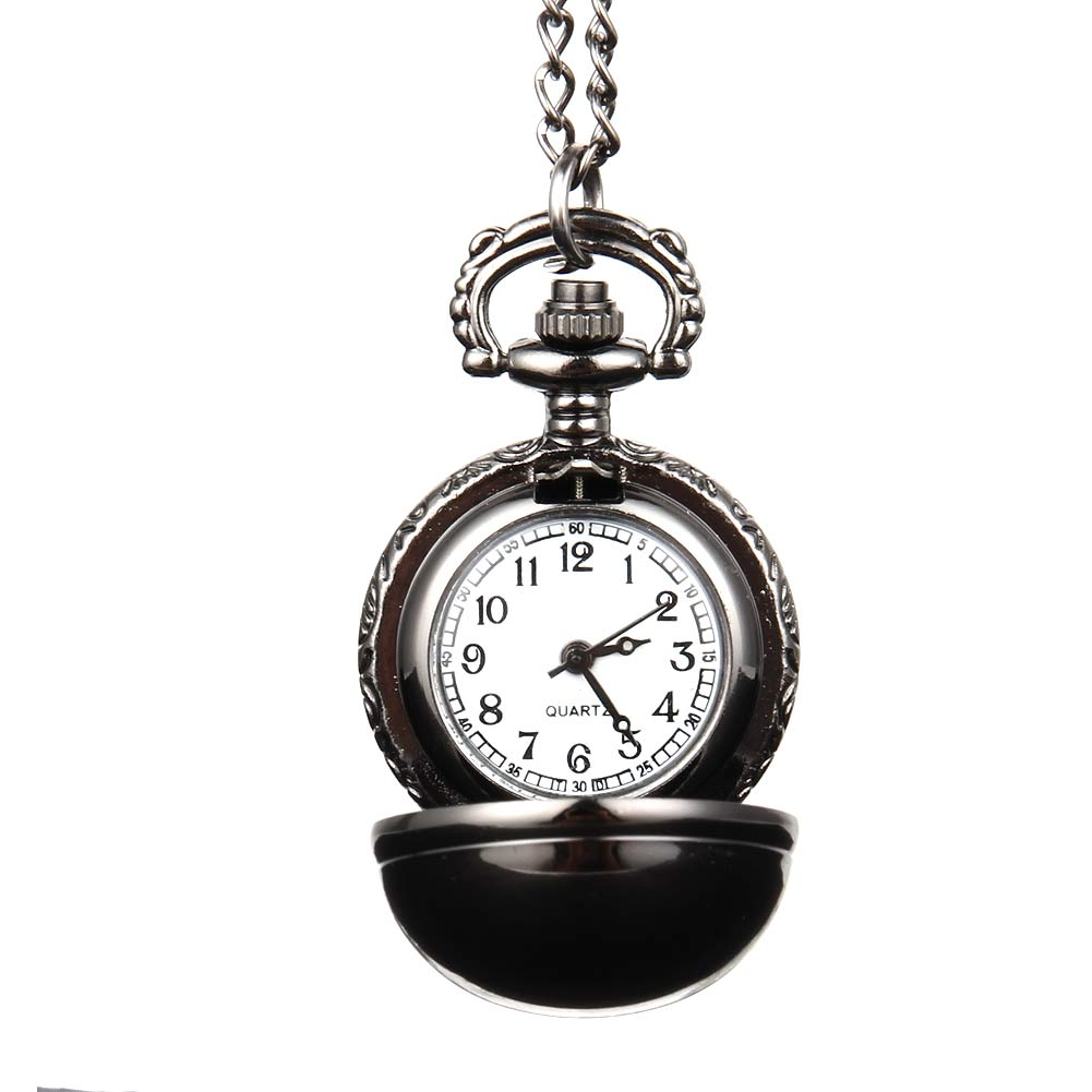 Elegant Snitch Quartz Fob Pocket Watch With Sweater Necklace Chain Jewelry Gifts LL@17 free drop shipping elegant golden snitch quartz fob pocket watch with sweater necklace chain
