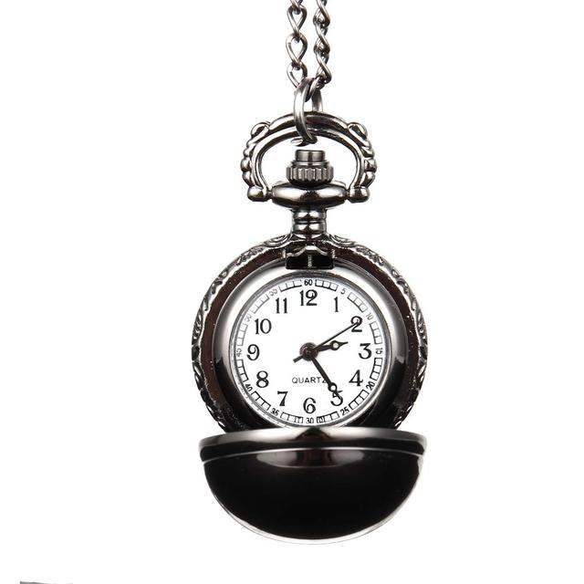 Elegant Snitch Quartz Fob Pocket Watch With Sweater Necklace Chain Jewelry Gifts