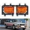 Car Front Bumper Fog Lights Lamp Lens Kit for BMW E30 3-Series (1985-1993)