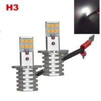 2 Pieces Lot H3 Super Bright CREE 60W LED DRL Fog Light Bulbs DRIVING LIGHT BULB