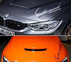 50cm * 17cm 1 sztuka Car Styling naklejki odblaskowe naklejki dla wydajności BMW2 3 5 7X1X3X5 reflektor kaptur dekoracji