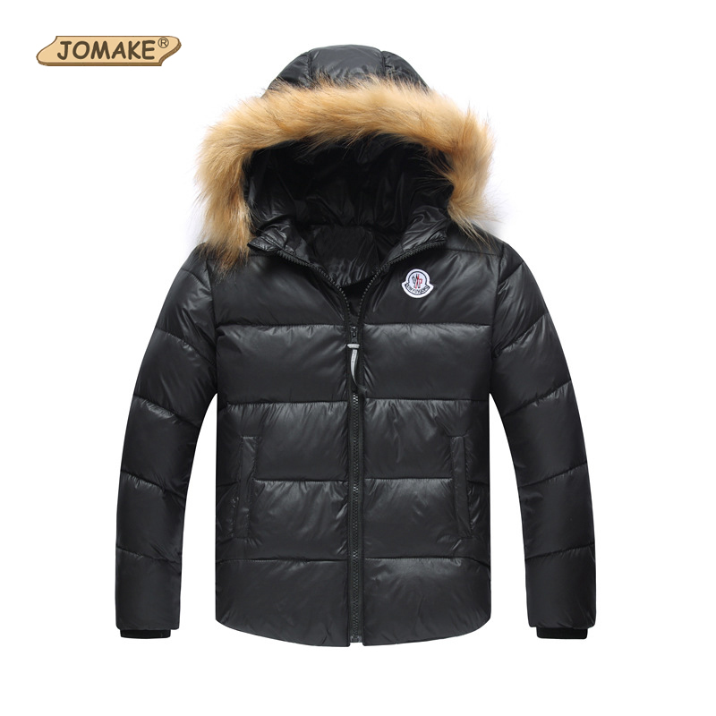 Boys Girls Fur Collar Waterproof Duck Down Jackets Outerwear Kids Winter Warm Snowsuit Coat Costume For Kids Children Clothing
