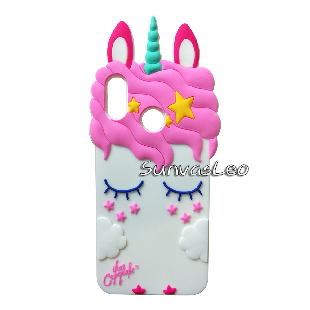 For Huawei P20 Lite Case 3D Soft Silicone Cartoon Smart Phone Pretty Unicorn Cover Shell Skin Fundas Coque Capa Nova 3e Cases ...