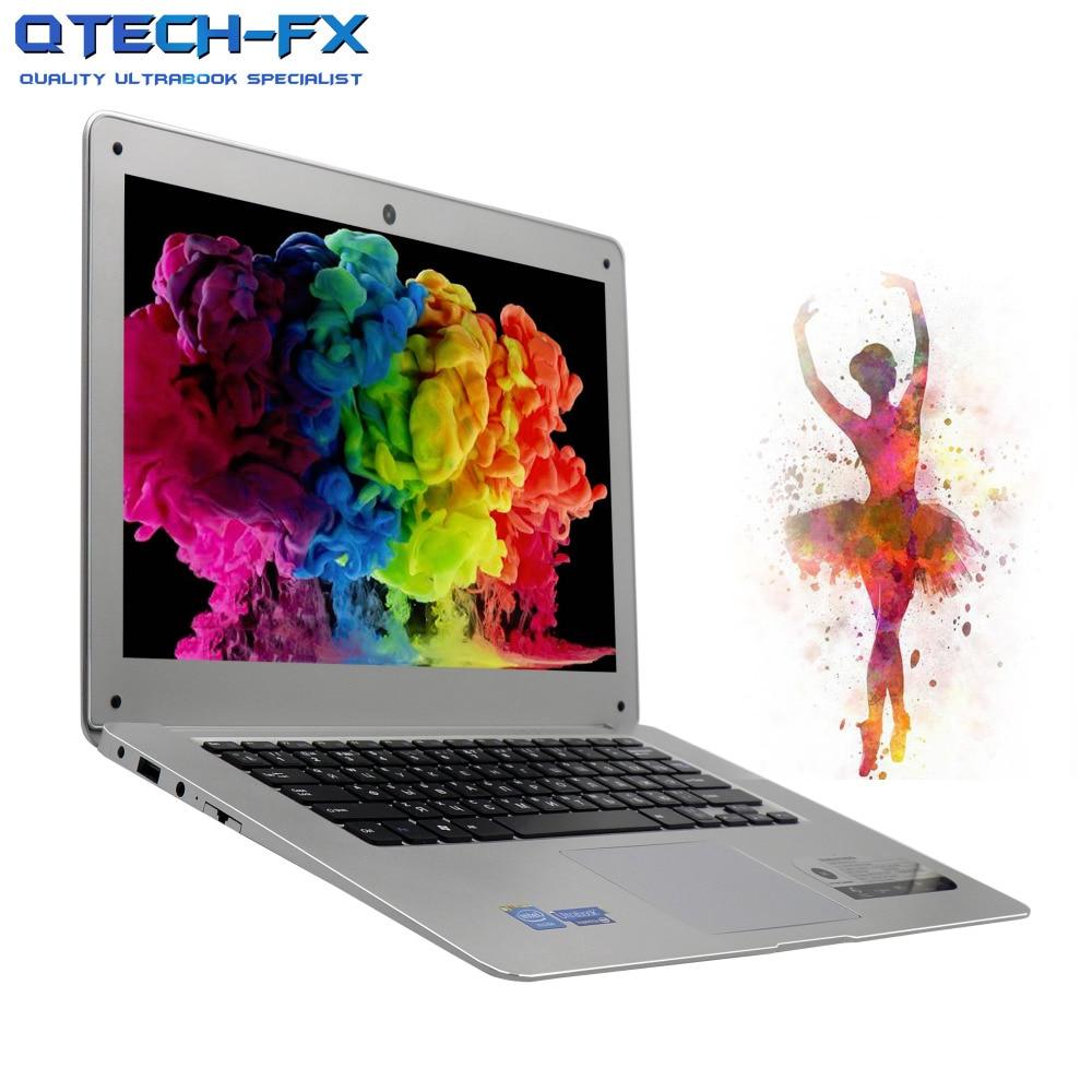 14 Notebook 8GB RAM SSD 256GB 128GB 64G +750GB HDD Windows 10/7 Fast CPU Intel 4 Core Arabic AZERTY Russian Spanish Keyboard