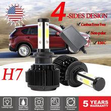 HNYRI Canbus H4 Hi/Lo LED 380W 58000LM 4-Sides Headlight H13 H8/H11 H7 9005 9006 HB4 HB3 9007 9012 5202 EMC Beam Car Light 6000K