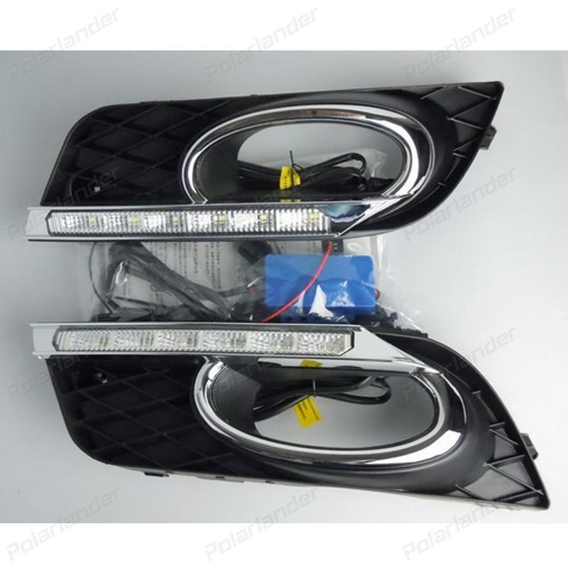 Daytime running lights Car styling For  H/onda C/ivic 2011-2015 auto drl fog lamps сумка apostrophe сумки через плечо кросс боди