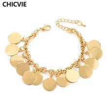 Женский браслет цепочка chicvie возлюбленной пары с золотыми