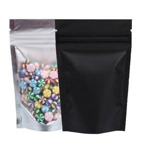 Image 2 - למחזור מט ברור מול Ziplock אחסון שקיות מתכתי מיילר אקו פלסטיק לקום שקיות מזון חבילה שקיות לשנה חדשה