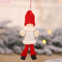 HUIRAN Cute Christmas Angel Elf Girl Boy Plush Doll Pendant Ornament Tree Decoration for Home 2019 Xmas Noel