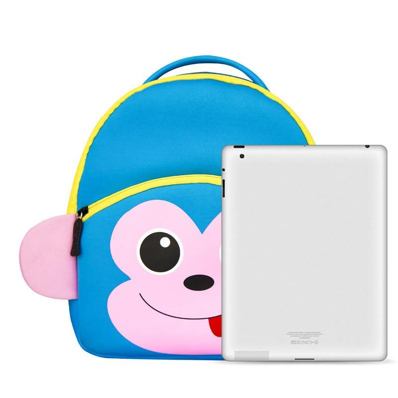 Lovely Cartoon Zoo Animals frog School Bags For Girls Children Kids Backpack Schoolbag