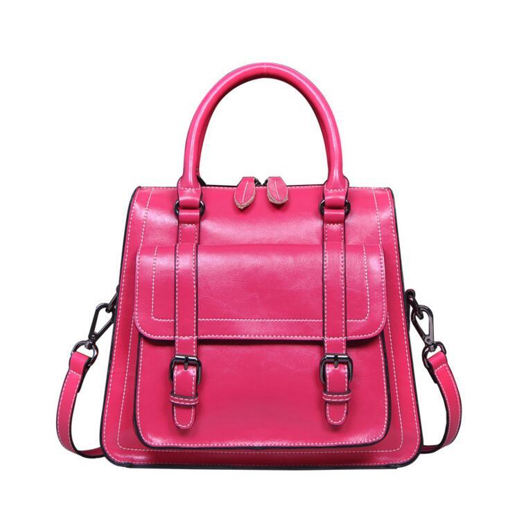 071017 women leather handbag new hot female top-handles bag