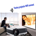 Android 4.4.2 Full HD LED Daytime Proyector 5500 lúmenes proyector LCD 3D Wifi Smart projektor proyector LED-86 Lámpara de cine comercial