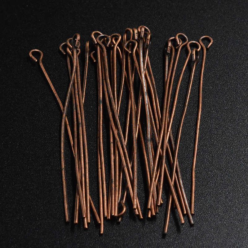 300pcs สีน้ำตาลทองเงินสี Antique Bronze โรเดียมสีหัว Pins 22 มม.Pins สำหรับ DIY เครื่องประดับทำ Jew