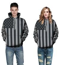 2017 neue Mode für Männer 3D Gedruckt Amerikanische Flagge Hoodies Marke Sporting Anzug Hohe Qualität Sweatshirt Mit Kapuze Beiläufige Mit Kapuze Tracksui