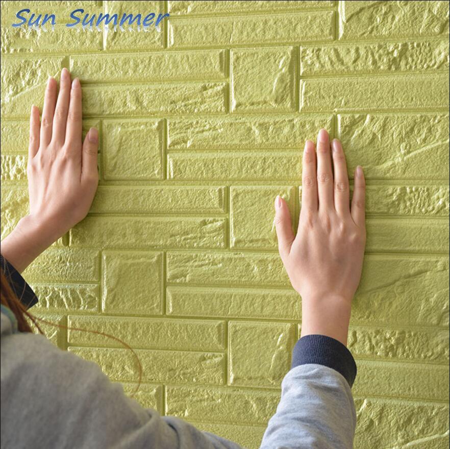 3D wall stickers self adhesive brick wallpaper renovation decorative ...