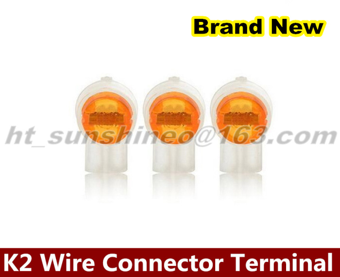New 1000PCS/LOT Crimp connection terminals k2 connector waterproof wiring ethernet cable telephone cord