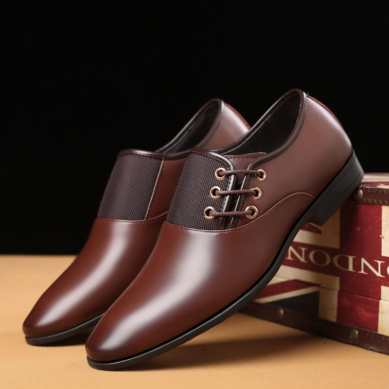 dark brown leather dress shoes
