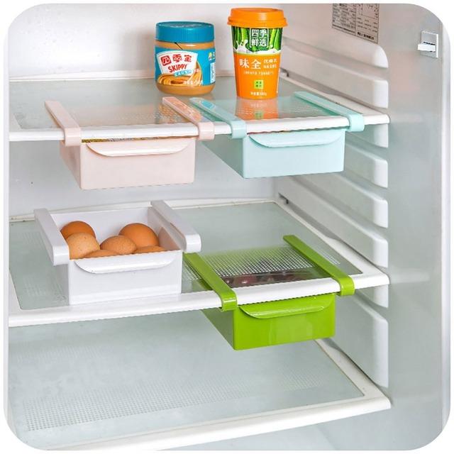 Kitchen supplies refrigerator storage rack drawer partition frame plastic shelf multi-function rack Dropshipping