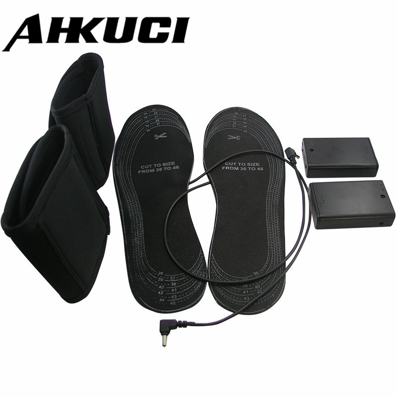 Promotional USB Powered shoes for size 38-46 heated insole electric heating without battery