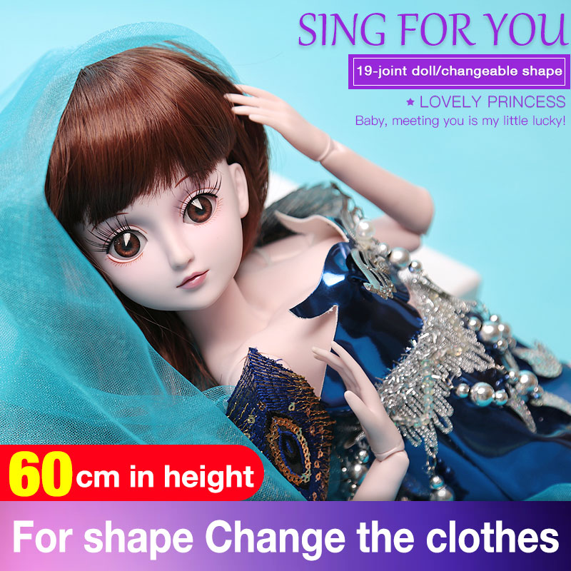 BARBIE 19 Moveable Joint Body Princess Babe BJD Doll 30cm 11 Wedding Design Dress Suite Kids Toy Brinquedo Blyth Girl Gift handmade chinese ancient doll tang beauty princess pingyang 1 6 bjd dolls 12 jointed doll toy for girl christmas gift brinquedo
