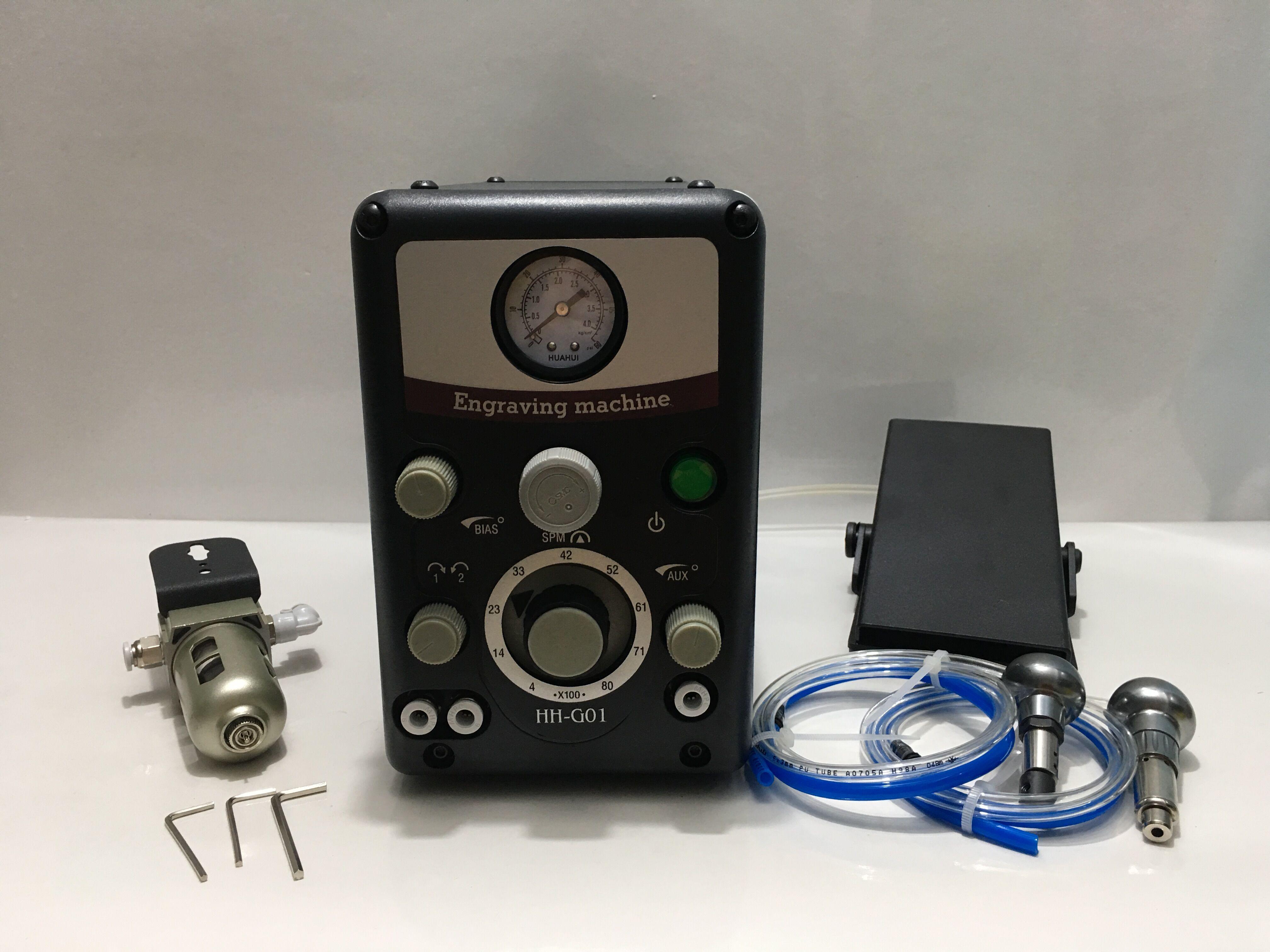 Nuevo Tipo 0-8000 trazos/min herramientas de grabado neumático máquina de grabado de joyería máquina de buril clasificada 4,7/5 b