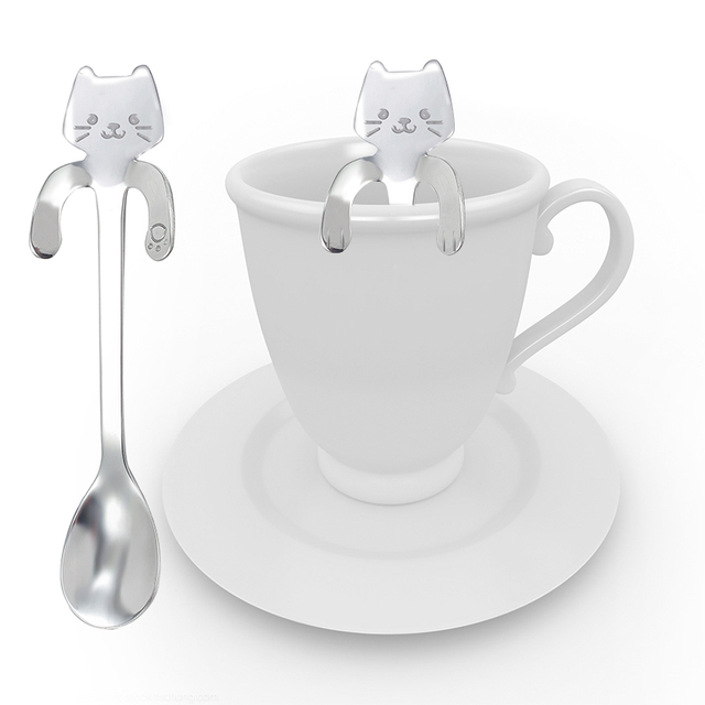 Cartoon Cat Shaped Tea Spoon